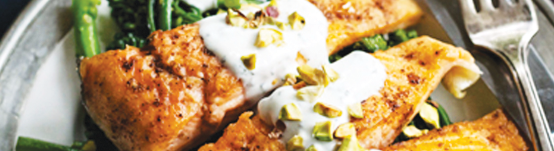 Arctic Char with Yogurt Sauce