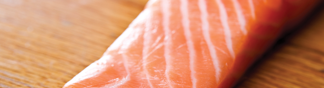 Garlic Salmon over Spinach